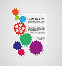 Cogwheels and sample text infographics vector