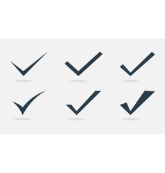 confirm icons set vector image