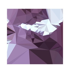 Dark pastel purple abstract low polygon background vector