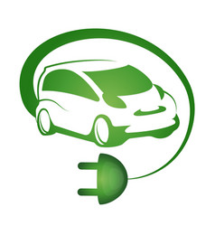 Eco car design vector
