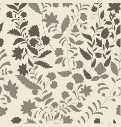 Floral pattern three colors monochrome vector
