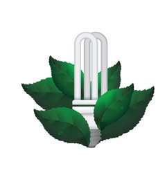 fluorescent light bulb leaves vector image vector image
