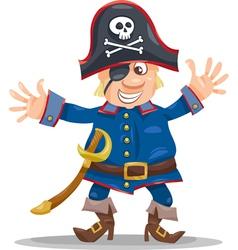 Funny pirate cartoon vector