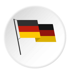 German flag icon circle vector