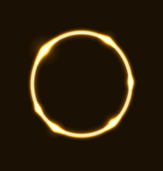 Gold ring circle effect background vector image