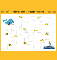 maze game educational children cartoon game for vector image vector image