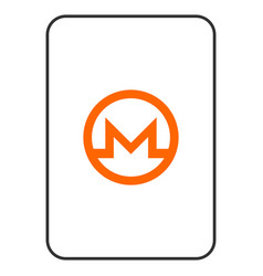 Monero playing card vector