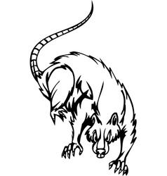 rat - halloween set - vector image vector image