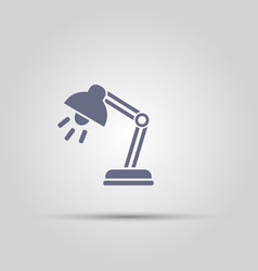 reading lamp isolated icon vector image
