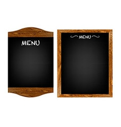 Restaurant Menu Board Set With Text vector image vector image