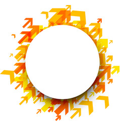 round background with orange arrows vector image