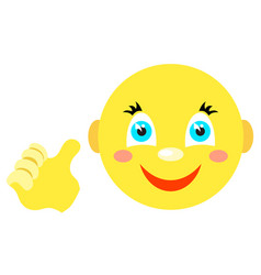 Smiley with a thumbs up gesture vector