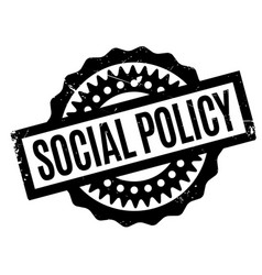 Social policy rubber stamp vector