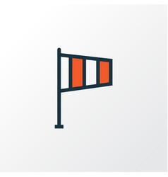 Wind vane colorful outline symbol premium quality vector