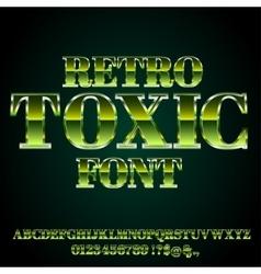 Toxic green font vector