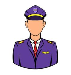 Captain of the aircraft icon icon cartoon vector