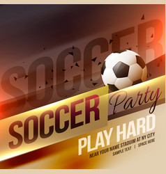 creative sports soccer football poster background vector image