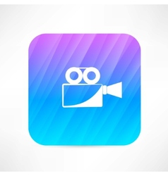 old video camera vector image