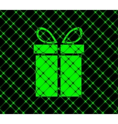 Gift web icon flat design vector