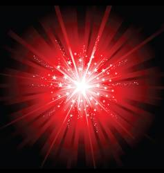 red star burst vector image
