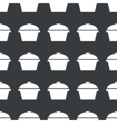 Straight black pot pattern vector