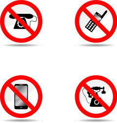 Ban phone set vector