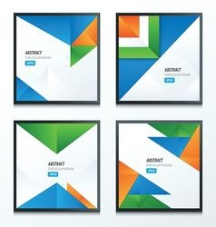 Striped triangle template design vector