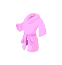 Pink bathrobe cartoon icon vector