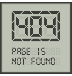 Page in not found digital error message vector