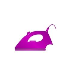 Steam iron icon vector