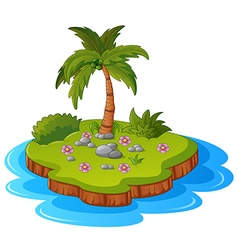 a tropical island vector image