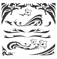 Arabic ornaments vector image