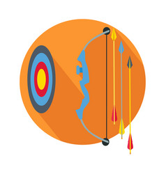 Arrow with target icon button archery sign symbol vector
