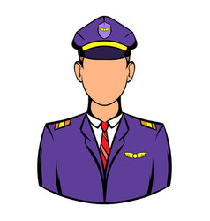 Captain of the aircraft icon icon cartoon vector