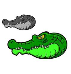 cartoon crocodile head vector image vector image