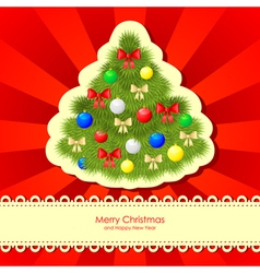 christmas backgr fir vector image vector image