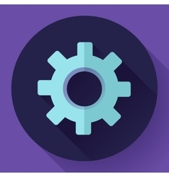 Cogwheel Icon Develop symbol Flat design style vector image