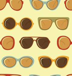 Fashion sunglasses pattern vector image