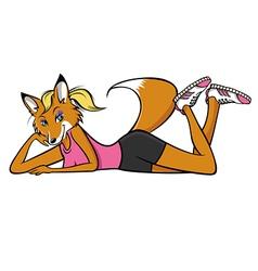 foxy fitness vector image