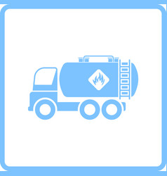Fuel tank truck icon vector