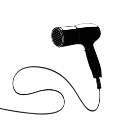 Hairdryer with cable vector