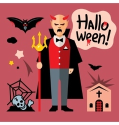 Halloween devil Cartoon vector image vector image