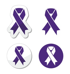 Indigo ribbon - bullying stalking awareness vector image vector image