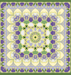 Lilac and yellow colored handkerchief vector