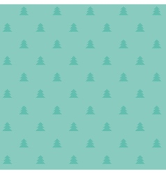Naive Christmas seamless pattern with trees Xmas vector image