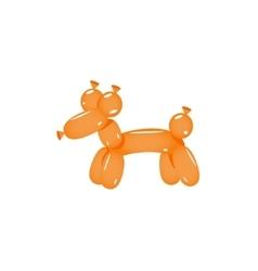 Orange balloon dog vector