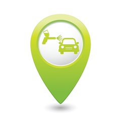 Painting of cars green map pointer vector