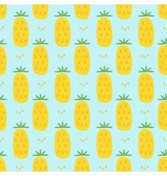 pineapple seamless pattern vector image