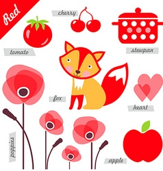 Red vector image vector image