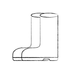 rubber boots isolated icon vector image